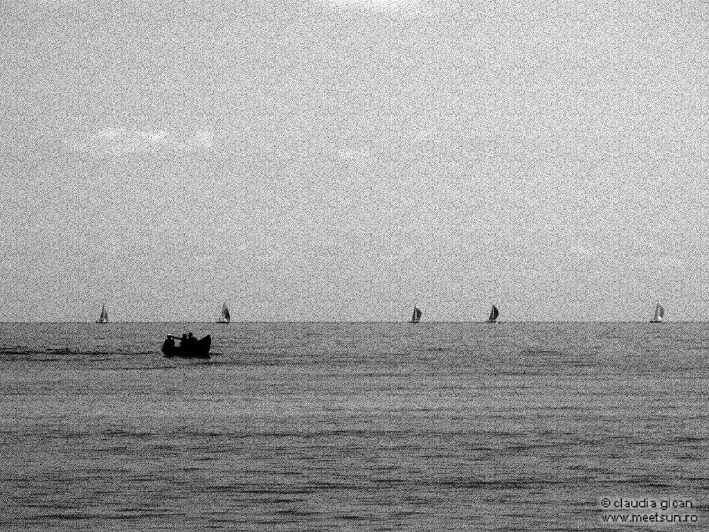 barca cu vasle versus vele